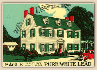 Historic paint color card, early 20th c